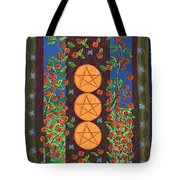 Three Of Pentacles Tote Bag