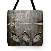 Three Old Canoes Tote Bag