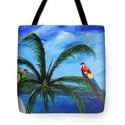 Three Parrots Tote Bag