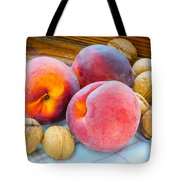 Three Peaches And Some Walnuts Tote Bag