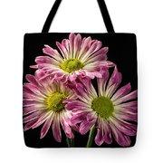 Three Pink Flowers Tote Bag