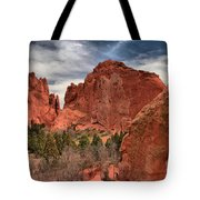Three Red Towers Tote Bag