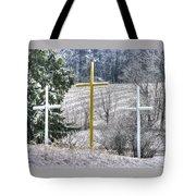 Three Roadside Crosses - Mount Airy Md Winter Tote Bag
