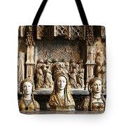 Three Saints In Marble Tote Bag