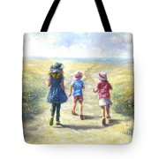 Three Sisters Beach Path Tote Bag