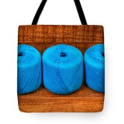 Three Skeins Of Knitting Yarn Tote Bag