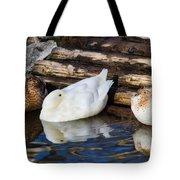 Three Sleeping Ducks Tote Bag