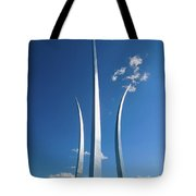 Three Soaring Spires Of Air Force Tote Bag