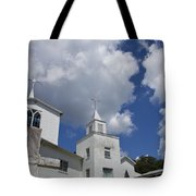 Three Steeples On Historic Florida Church Tote Bag