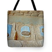 Three Stones For Grinding Corn In Spruce Tree House In Mesa Verde National Park-colorado Tote Bag