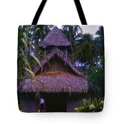 Three Story Hut 2 In Color Tote Bag