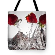 Three Strawberries Freshsplash Tote Bag