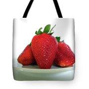 Three Strawberries Tote Bag