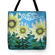 Three Sunflowers Tote Bag