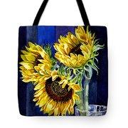 Three Sunny Flowers Tote Bag