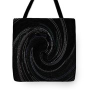 Three Swirls On Black Tote Bag