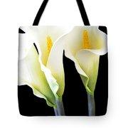 Three Tall Calla Lilies Tote Bag