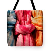 Three Tie-dye Knots Tote Bag