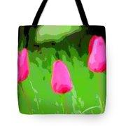 Three Tulips - Painting Like Tote Bag