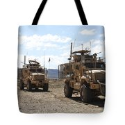 Three U.s. Army Mine Resistant Ambush Tote Bag
