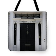 Three Whale Oil Row - Black Door - New London Tote Bag