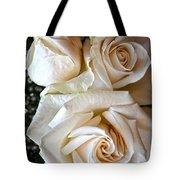 Three White Roses Tote Bag