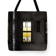 Three Windows And Pipe - The Story Behind The Windows Tote Bag by Gary Heller