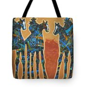 Three With Rope Tote Bag by Lance Headlee