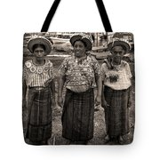 Three Women In Atitlan Tote Bag
