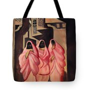 Three Women On The Street Of Baghdad Tote Bag