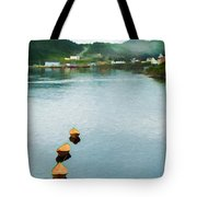 Three Yellow Boats Tote Bag