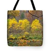 Three Yellow Trees Tote Bag