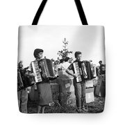 Three Young Accordion Players Tote Bag