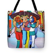 Threes A Crowd By Anthony Falbo                                          Tote Bag by Anthony Falbo