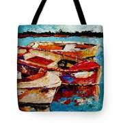 Threes A Crowd Tote Bag by Vickie Warner