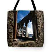 Through Castle Walls Tote Bag