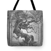 Through The Chimeras - To The Skies Tote Bag