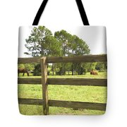 Through The Fence Tote Bag