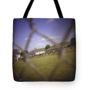 Through The Fence Pastel Chalk 2 Tote Bag