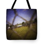 Through The Fence Water Color Tote Bag