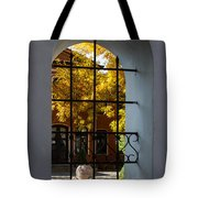 Through The Fence Window Tote Bag