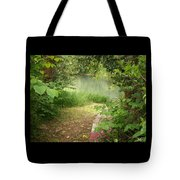 Through The Forest At Water's Edge Tote Bag