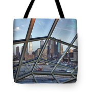Through The Glass At Philly Tote Bag