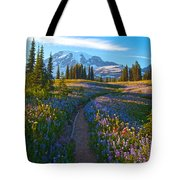 Through The Golden Meadows Tote Bag