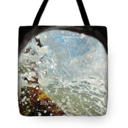 Through The Hole Jetty Splash 3/01 Tote Bag