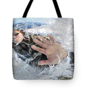 Through The Ice Tote Bag