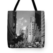 Through The Looking Glass In Black And White Tote Bag