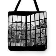 Through The Monastery Window Tote Bag