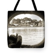 Through The Porthole Tote Bag