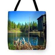 Through The Reeds At Grace Lake Tote Bag